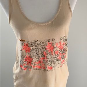 J. Crew Embroidered Tank
